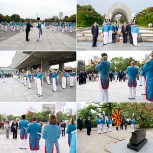 Cérémonie en hommage au Dr Marcel Junod au Parc de la Paix de Hiroshima